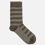 Democratique Socks Originals Striper Men's Socks Forrest Green/Army photo- 1