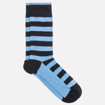 Мужские носки Democratique Socks Originals Striper Navy/Baby Blue фото- 1