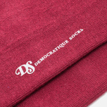 Мужские носки Democratique Socks Originals ZigZag Stripe Red Wine/White/Light Grey Melange фото- 2