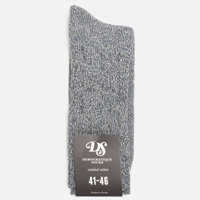 Мужские носки Democratique Socks Relax Cable Knit Supermelange Navy/Off White/Dark Sand/Blue