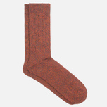 Мужские носки Democratique Socks Relax Cable Knit Supermelange Navy/Red Wine/Army/Blood Orange фото- 1