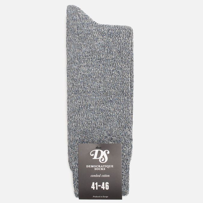 Мужские носки Democratique Socks Relax Diamond Knit Supermelange Navy/Off White/Dark Sand/Blue