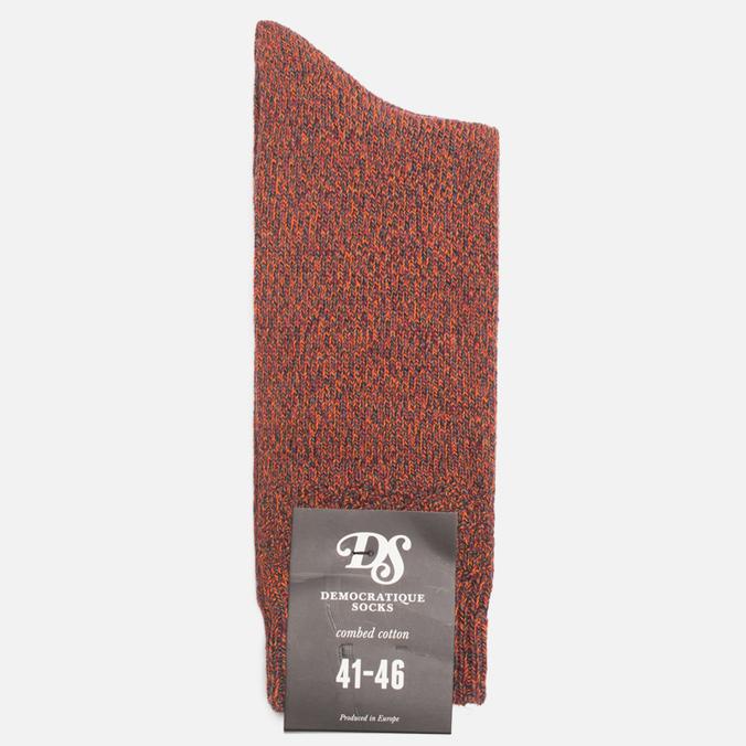 Мужские носки Democratique Socks Relax Diamond Knit Supermelange Navy/Red Wine/Army/Blood Orange