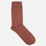 Democratique Socks Relax Diamond Knit Supermelange Navy/Red Wine/Army/Blood Orange photo- 1
