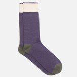 Мужские носки Democratique Socks Relax Melangecontrast Army/Deep Purple/Off White фото- 1