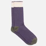 Democratique Socks Relax Melangecontrast Army/Deep Purple/Off White photo- 1