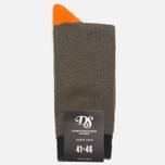 Мужские носки Democratique Socks Relax Melangecontrast Army/Forrest Green/Blood Orange фото- 0