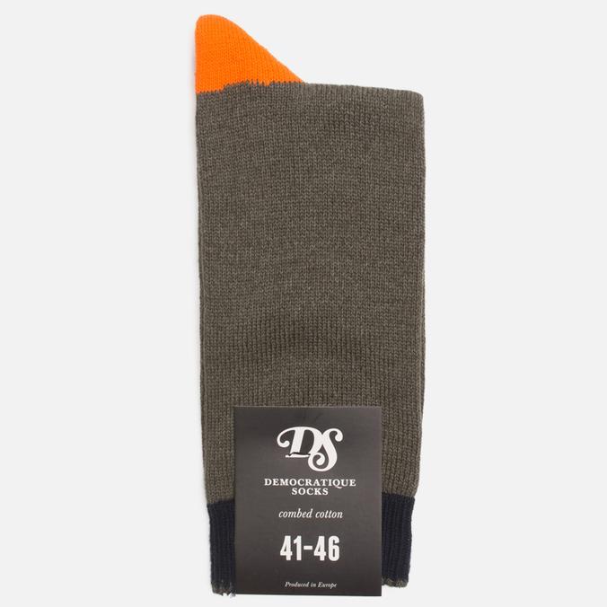 Мужские носки Democratique Socks Relax Melangecontrast Army/Forrest Green/Blood Orange