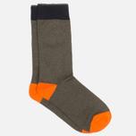 Мужские носки Democratique Socks Relax Melangecontrast Army/Forrest Green/Blood Orange фото- 1