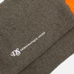 Мужские носки Democratique Socks Relax Melangecontrast Army/Forrest Green/Blood Orange фото- 2
