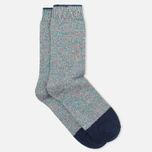 Мужские носки Democratique Socks Relax Noise 1 Sea Green/White/Red/Blue/Navy фото- 1
