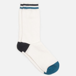 Мужские носки Democratique Socks Relax Two Stripe Broken White/Navy/Emerald фото- 1