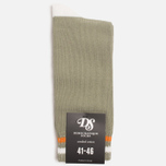 Мужские носки Democratique Socks Relax Two Stripe Dark Sand/Broken White/Orange County фото- 0