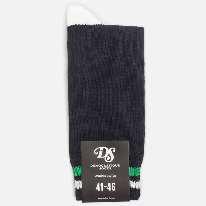 Мужские носки Democratique Socks Relax Two Stripe Navy/Broken White/Sea Green