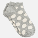 Носки Happy Socks Big Dot Low Grey/White фото- 1