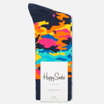 Носки Happy Socks Camo Black/Orange/Pink фото- 0