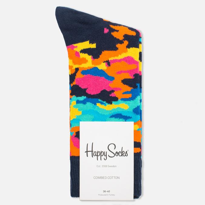 Носки Happy Socks Camo Black/Orange/Pink