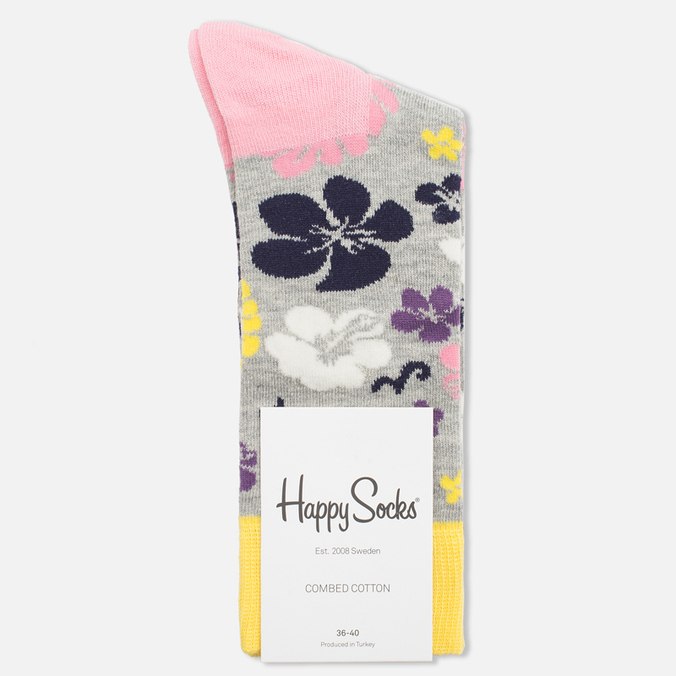 Happy Socks Hawaii Blue/Grey/Pink