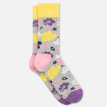 Happy Socks Hawaii Blue/Grey/Pink photo- 1
