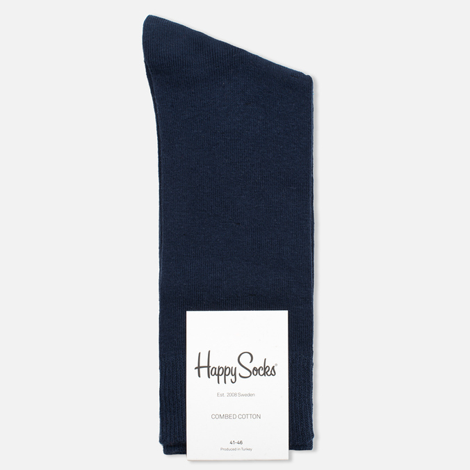 Happy Socks Solid Men's Socks Blue