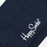Happy Socks Solid Men's Socks Blue photo- 2