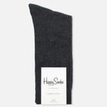Happy Socks Solid Men's Socks Dark Grey photo- 0