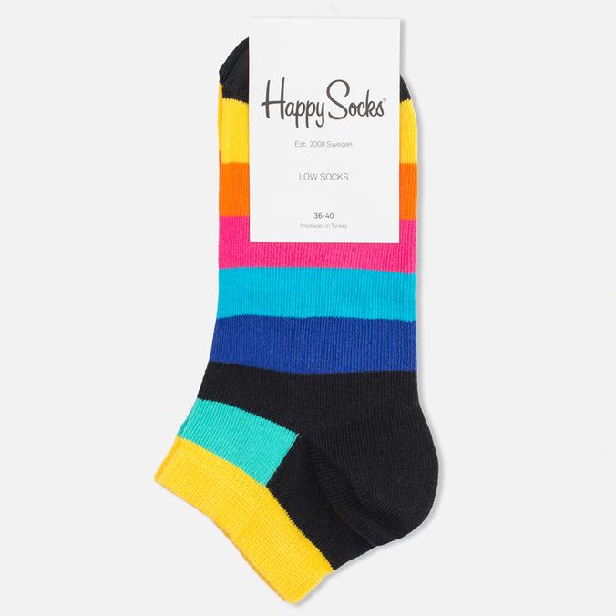 Носки Happy Socks Stripe Low Black/Blue/Yellow