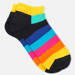 Носки Happy Socks Stripe Low Black/Blue/Yellow фото- 1
