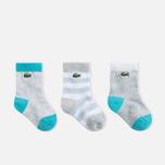Детские носки Lacoste 3 Pair Grey фото- 0