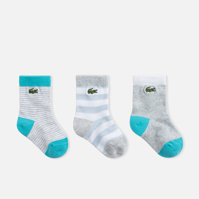Детские носки Lacoste 3 Pair Grey