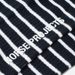 Мужские носки Norse Projects Bjarki B Stripe Dark Navy фото- 2