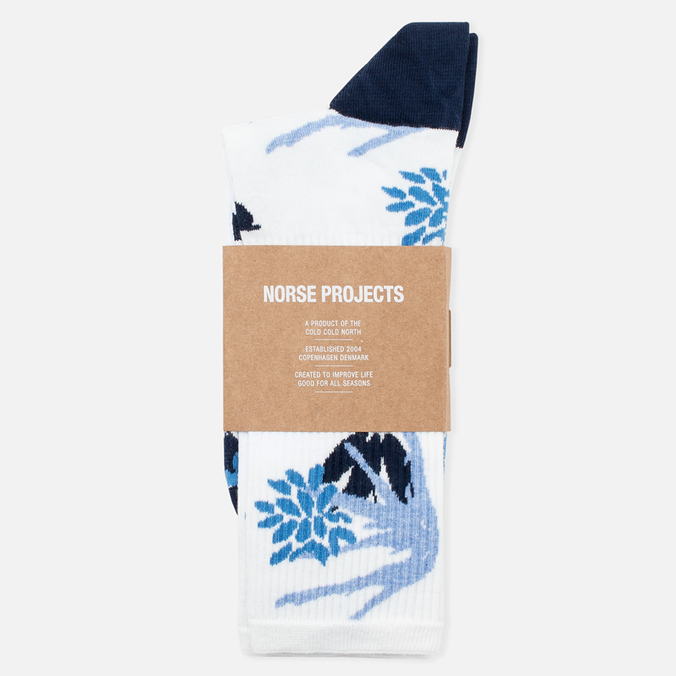 Мужские носки Norse Projects Bjarki Jungle Intarsia Blue