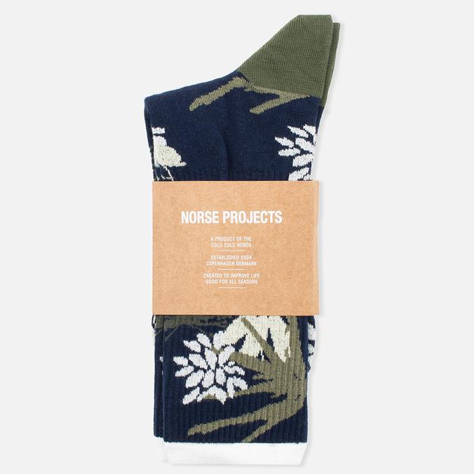 Мужские носки Norse Projects Bjarki Jungle Intarsia Navy