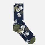 Мужские носки Norse Projects Bjarki Jungle Intarsia Navy фото- 1