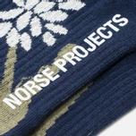 Мужские носки Norse Projects Bjarki Jungle Intarsia Navy фото- 2