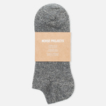 Мужские носки Norse Projects Haddi Cotton Charcoal Melange фото- 0