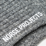 Мужские носки Norse Projects Haddi Cotton Charcoal Melange фото- 2