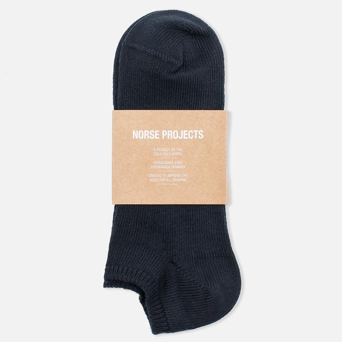 Norse Projects Haddi Cotton Men's Socks Dark Navy