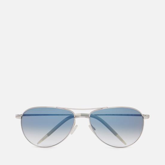 Солнцезащитные очки Oliver Peoples Benedict Silver/Chrome Sapphire Photochromic