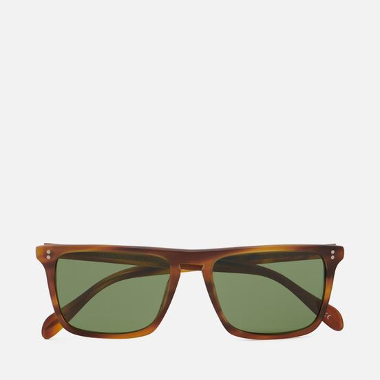 Солнцезащитные очки Oliver Peoples Bernardo Matte Sandalwood/Green C Mineral