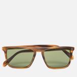 Солнцезащитные очки Oliver Peoples Bernardo Matte Sandalwood/Green C Mineral фото- 0