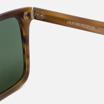 Солнцезащитные очки Oliver Peoples Bernardo Matte Sandalwood/Green C Mineral фото- 3