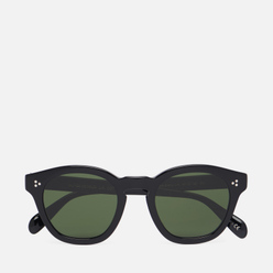 Солнцезащитные очки Oliver Peoples Boudreau LA Black/Dark Green