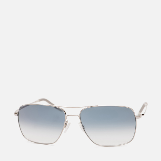 Солнцезащитные очки Oliver Peoples Clifton Silver/Blue Gradient