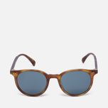 Солнцезащитные очки Oliver Peoples Delray Matte Light Brown/Indigo Photochromic фото- 0