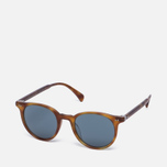 Солнцезащитные очки Oliver Peoples Delray Matte Light Brown/Indigo Photochromic фото- 1