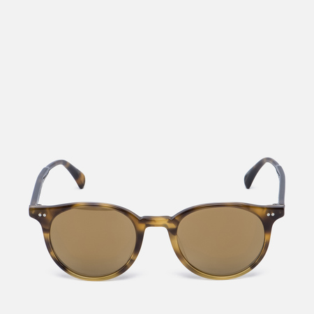 Солнцезащитные очки Oliver Peoples Delray Vintage Brown Tortoise Gradient/Gold Mirror