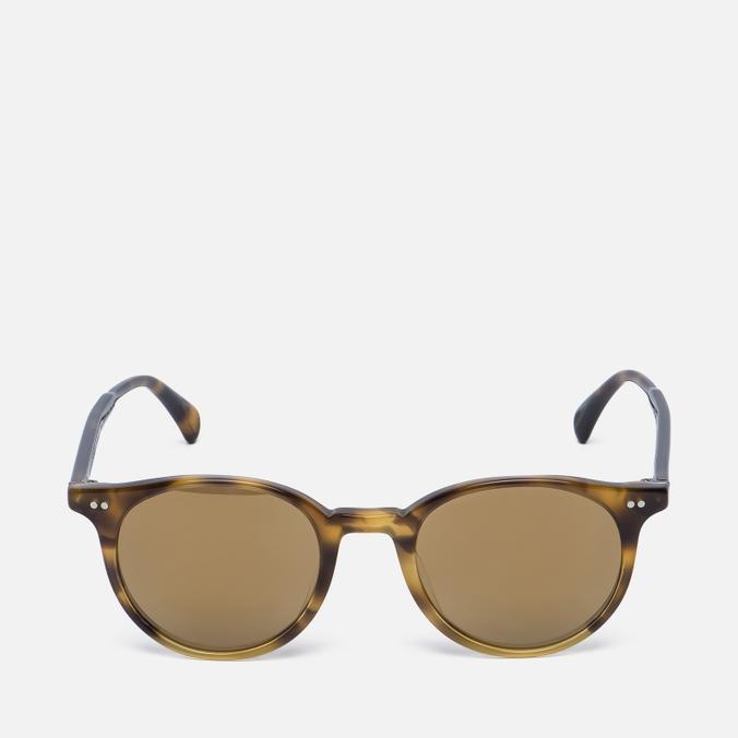 Солнцезащитные очки Oliver Peoples Delray Vintage Brown Tortoise Gradient/Gold Mirror