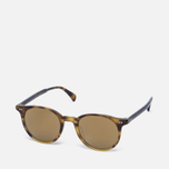 Солнцезащитные очки Oliver Peoples Delray Vintage Brown Tortoise Gradient/Gold Mirror фото- 1