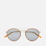 Солнцезащитные очки Oliver Peoples Ellice Amber Tortoise/Silver/Blue Goldtone Glass фото- 0